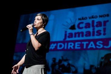 Renata Mielli, Secretária-Geral do Barão de Itararé, durante o #3ENDC.